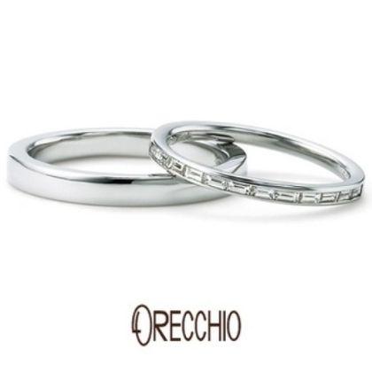 【ORECCHIO(オレッキオ)】<siena~シエナ>SM-2107/SM-2108 バゲットカットのエタニティーリングは細身でエレガントな印象の指輪