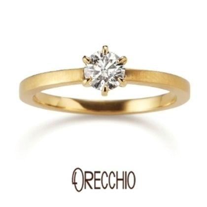 【ORECCHIO(オレッキオ)】<pipi~ピピ>PE-1401 シンプルな立爪にエッジのきいた細身のアームが印象的な婚約指輪