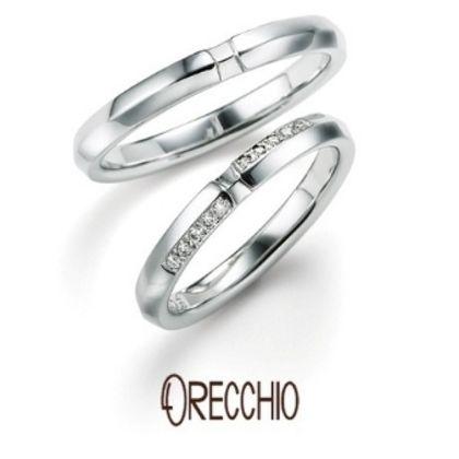 【ORECCHIO(オレッキオ)】<monaco~モナコ> MM-2005/MM-2006 シンプルなデザインにさりげないアクセントが素敵な結婚指輪