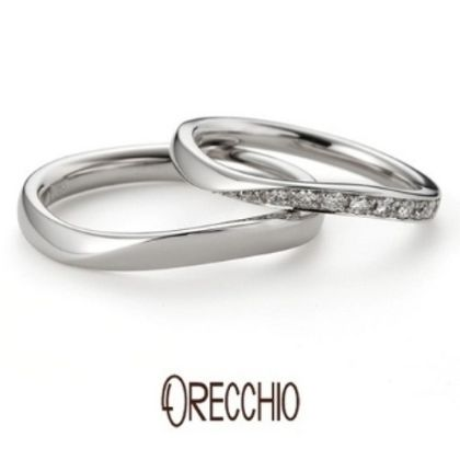 【ORECCHIO(オレッキオ)】イランイラン~緩やかなカーブとメレダイヤが女性の手元を美しく演出する結婚指輪
