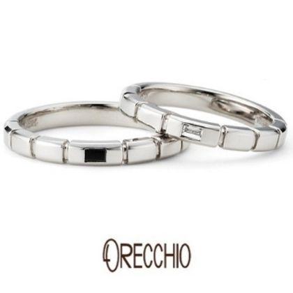 【ORECCHIO(オレッキオ)】<safari~サファリ>FM-2213/FM-2214 小さなパーツを組み合わせたような動きのあるデザインが特徴の指輪