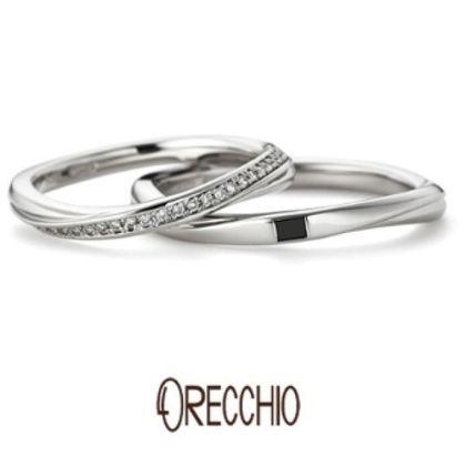 【ORECCHIO(オレッキオ)】クレッシェンド ~緩やかなウエーブが綺麗な指輪を演出してくれる結婚指輪