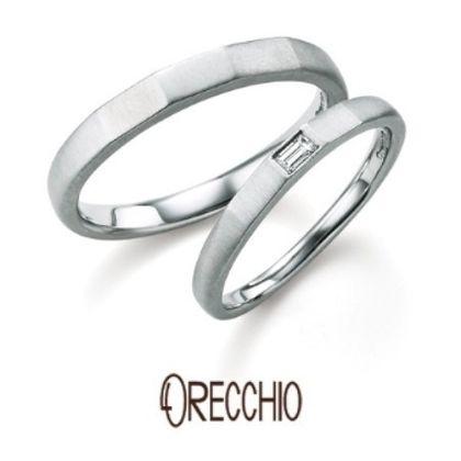 【ORECCHIO(オレッキオ)】<safari~サファリ>FM-2203/FM-2204 ほどよく角を持たせたアームにバゲットカットダイヤでアクセントを