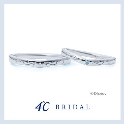【4℃ BRIDAL(ヨンドシーブライダル)】【専門店限定】プラチナマリッジリング Disney 21121-264-5034