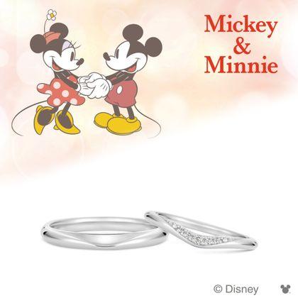 【ケイウノ ブライダル(K.UNO BRIDAL)】Disney / ミッキー&ミニー マリッジリング-Be With Me-