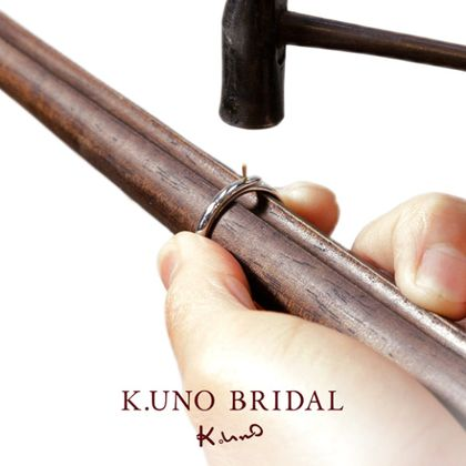 """【ケイウノ ブライダル(K.UNO BRIDAL)】『Hishime TSUNAGI -菱目繋ぎ-』ふたりで繋ぐ誓いの輪。変わらぬ想いを""""菱目""""にこめて"""
