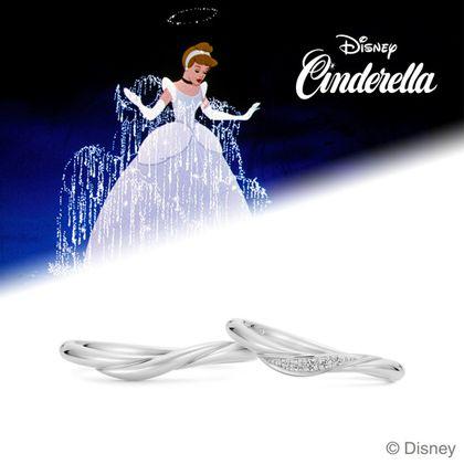 【ケイウノ ブライダル(K.UNO BRIDAL)】Disney / シンデレラ マリッジリング-Believe in Magic-