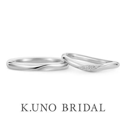 【ケイウノ ブライダル(K.UNO BRIDAL)】NEW【リサータウェーブ】手に自然に馴染み、美しく魅せるウェーブタイプの結婚指輪