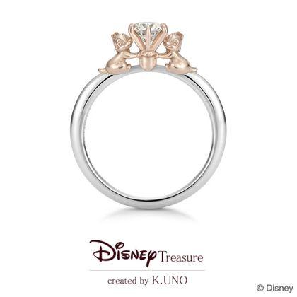 【ケイウノ ブライダル(K.UNO BRIDAL)】[Disney]Chipper Buddy/チップ&デール エンゲージリング