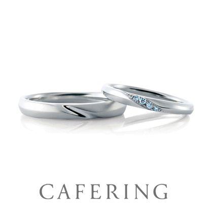 【CAFERING(カフェリング)】Lumiere 幸せヘと続く光(アイスブルーダイヤモンド)