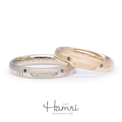 【Hamri(ハムリ)】ジンベイザメのマリッジリング