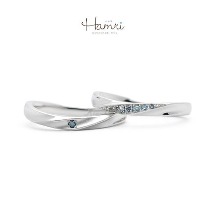 【Hamri(ハムリ)】グラデーションの手作り結婚指輪
