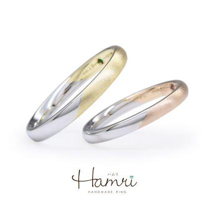 【Hamri(ハムリ)】シンプルなコンビネーションのマリッジリング