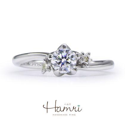 【Hamri(ハムリ)】花の手作り婚約指輪