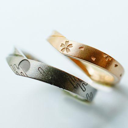 【Hamri(ハムリ)】V字の手作り結婚指輪