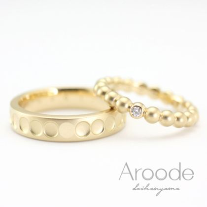 【Aroode(アローデ)】フルオーダーメイドマリッジリング No28