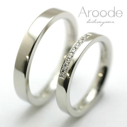 【Aroode(アローデ)】フルオーダーメイドマリッジリング No19