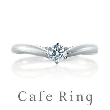 【山城時計店(やましろとけいてん)】【 スリーズ】シャープな印象の婚約指輪