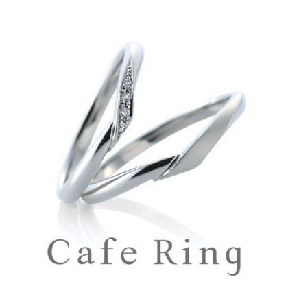 【山城時計店(やましろとけいてん)】【シェリ】細身のVラインが薬指を美しくみせる結婚指輪
