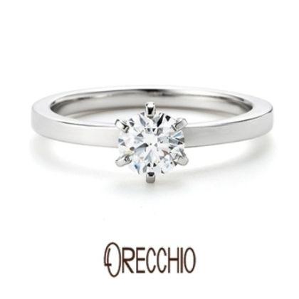【BIJOUPIKO(ビジュピコ)】<pipi> シンプルな立爪にエッジのきいた細身のアームが印象的な婚約指輪