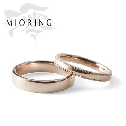【MIORING(ミオリング)】MIORING 咲-さき-  『桜ゴールド』のやさしい魅力をシンプルに。鍛造結婚指輪