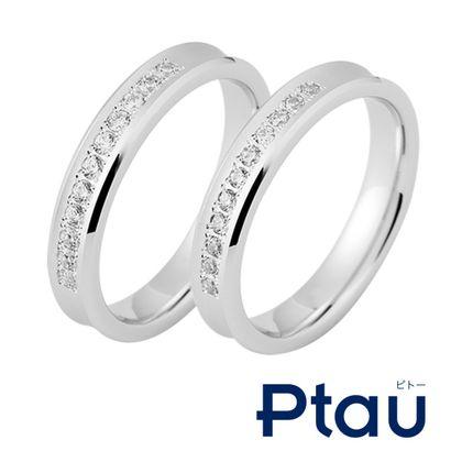 【Ptau(ピトー)】同じデザイン・幅でも留めるダイヤの大きさが変わるとまた違った印象に!予算に合わせたリング選びも簡単!