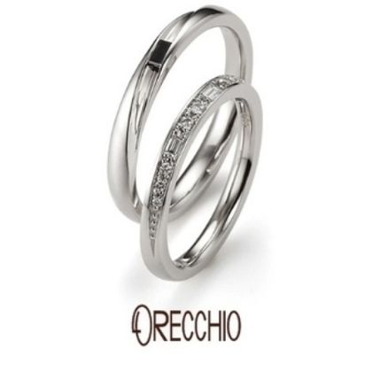 【garden(ガーデン)】タイム~輝きが違うバゲットカットとラウンドカットダイヤが交互に配置された結婚指輪