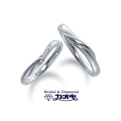 【カオキ ダイヤモンド専門卸直営店】ライン使いの効いたマリッジは重ね付けにもバッチリ【スイートバジル】~良い望み~