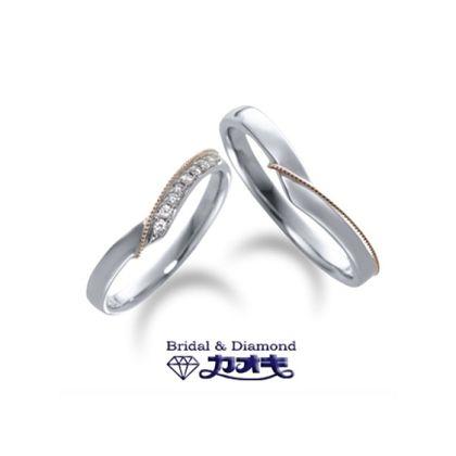 【カオキ ダイヤモンド専門卸直営店】ピングゴールドのミル打ちがさり気ないオシャレ感【シュンラン】~飾らない心~