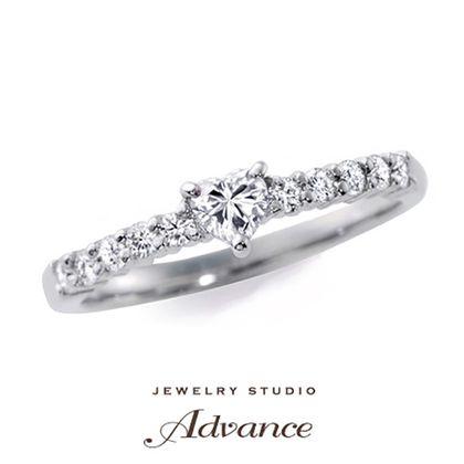 【JEWELRY STUDIO Advance(ジュエリースタジオアドバンス)】【Advance】ハートシェイプ『フェミニンな花嫁におすすめ』