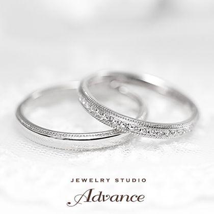 【JEWELRY STUDIO Advance(ジュエリースタジオアドバンス)】【Advance】Lace(レース)『クラシカルな雰囲気のリング』