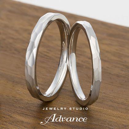 【JEWELRY STUDIO Advance(ジュエリースタジオアドバンス)】【Advance】鍛造シリーズ『職人のこだわりが詰まった高強度リング』