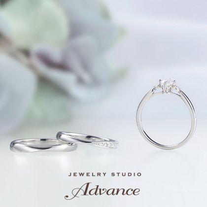 【JEWELRY STUDIO Advance(ジュエリースタジオアドバンス)】【Advance】Chouette(シュエット)『華奢なデザインで大人花嫁に』