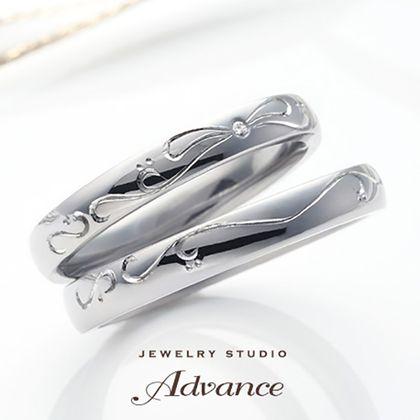 【JEWELRY STUDIO Advance(ジュエリースタジオアドバンス)】【Advance】Ribbon(リボン)『大切な人をイメージ』
