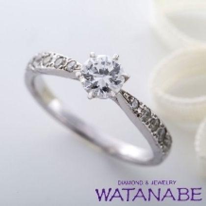 【WATANABE / 卸商社直営 渡辺】[WATANABE]アームにメレダイヤをセット。ゴージャスでもダイヤが引き立つ
