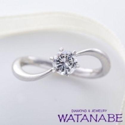 【WATANABE / 卸商社直営 渡辺】[WATANABE]細身のウェーブライン。真上から見ると、無限大∞