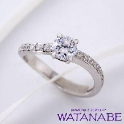 【WATANABE / 卸商社直営 渡辺】[WATANABE]ウェーブラインのマリッジに重ね着け出来るウェーブエタニティー