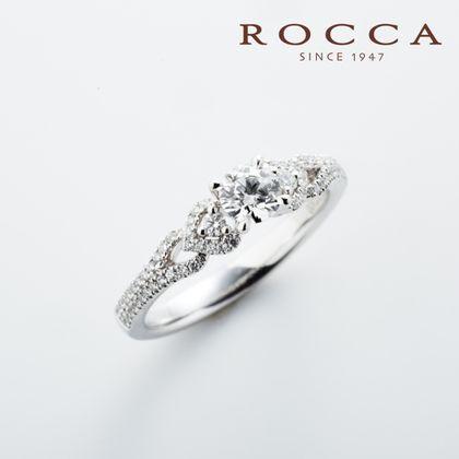 【ROCCA(ロッカ)】【ROCCA】繊細なパヴェセッティング!さりげないハートが可愛いエンゲージリング