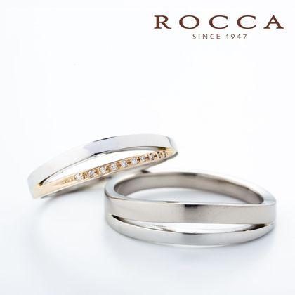 【ROCCA(ロッカ)】【ROCCA】スタイリッシュなS字が珍しい!個性的なマリッジリング