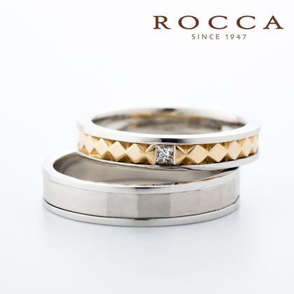 【ROCCA(ロッカ)】【ROCCA】ひし形の彫りがおしゃれ!カジュアルなマリッジリング