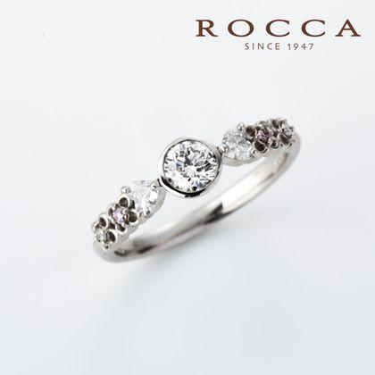 【ROCCA(ロッカ)】【ROCCA】透かしのお花が可愛いエンゲージリング
