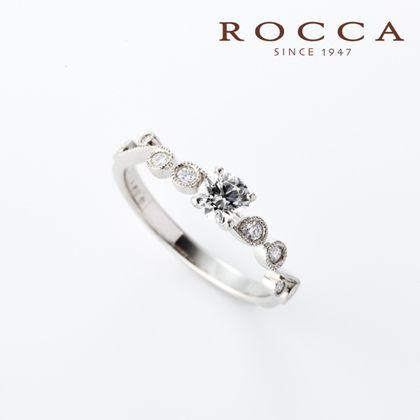【ROCCA(ロッカ)】【ROCCA】繊細なアンティークデザイン!重ね付けにもぴったりなエンゲージリング