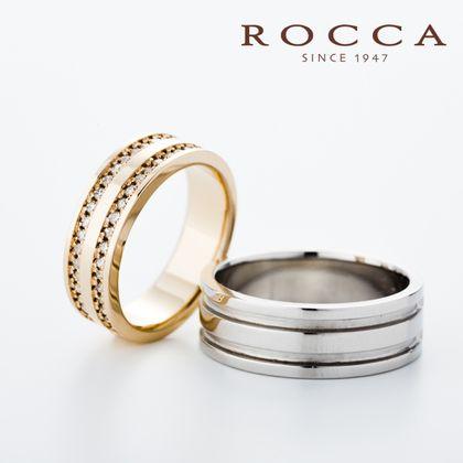 【ROCCA(ロッカ)】【ROCCA】幅広でもつけ心地抜群!ゴールドが華やかなマリッジリング