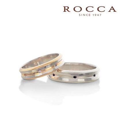 【ROCCA(ロッカ)】【ROCCA】幅広でも着け心地抜群!コンビのマリッジリング