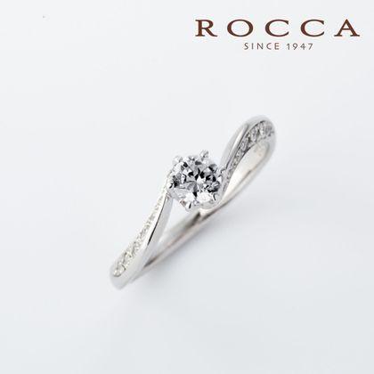 【ROCCA(ロッカ)】【ROCCA】シャープなS字のライン!スタイリッシュなエンゲージリング