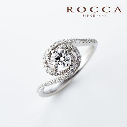 【ROCCA(ロッカ)】【ROCCA】流れるようなラインが綺麗!華やかなエンゲージリング