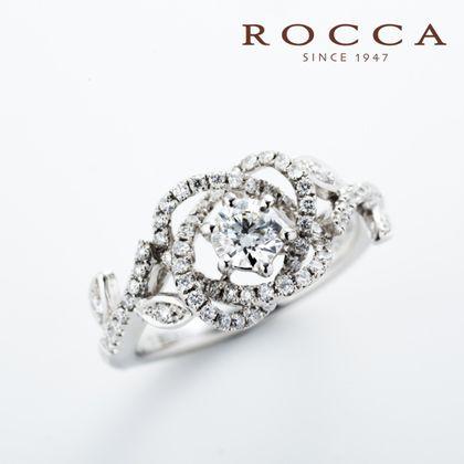 【ROCCA(ロッカ)】【ROCCA】エレガントなバラのデザイン!華やかなエンゲージリング