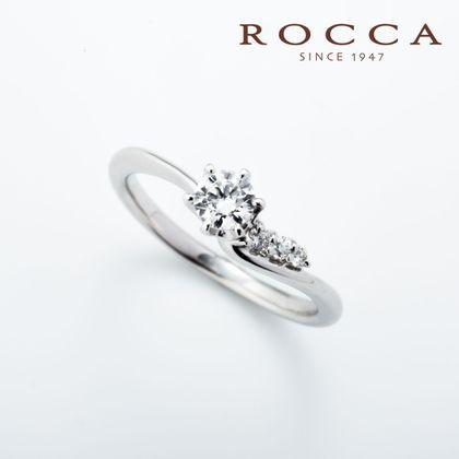 【ROCCA(ロッカ)】【ROCCA】サイドメレが可愛い!滑らかなS字のエンゲージリング