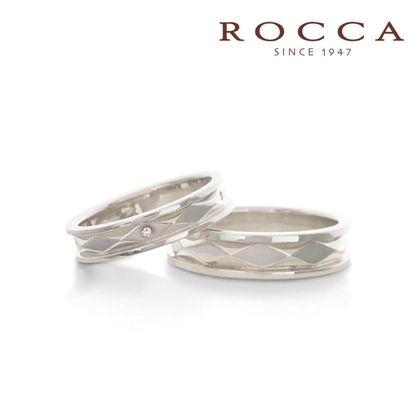 【ROCCA(ロッカ)】【ROCCA】スタイリッシュなダイヤ模様!個性的なマリッジリング