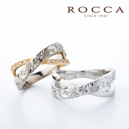 【ROCCA(ロッカ)】ROCCA】好きな彫り模様に変更可能!ハワイアンマリッジリング